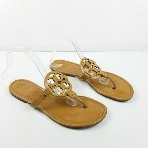 Tory Burch Miller Thong Sandals Patent Leather